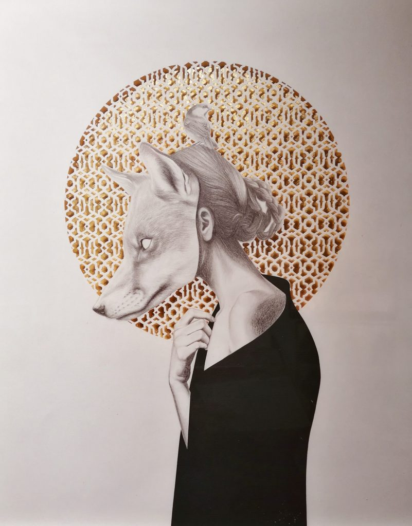 girl, monster, animal, blank, Iván Salamanca